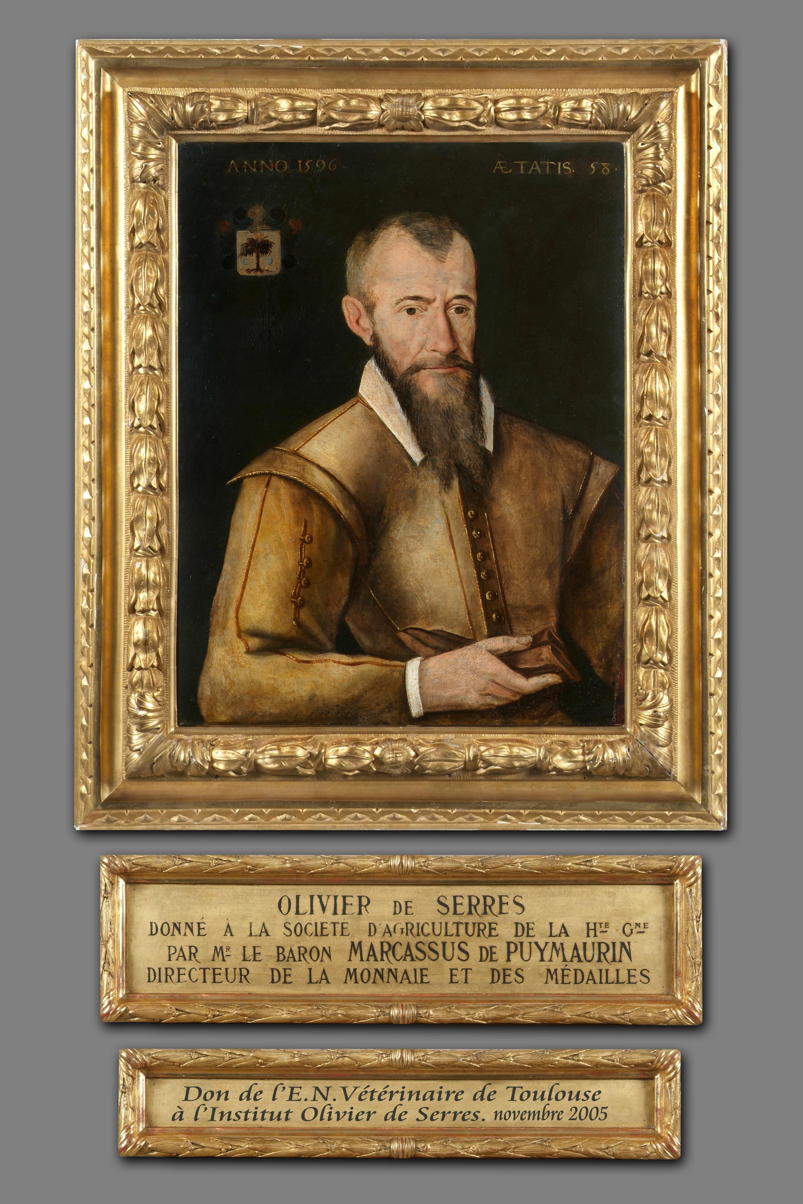 Portrait retrouvé à l'École vétérinaire de Toulouse