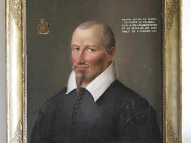 Tableau portrait d'Olivier de Serres