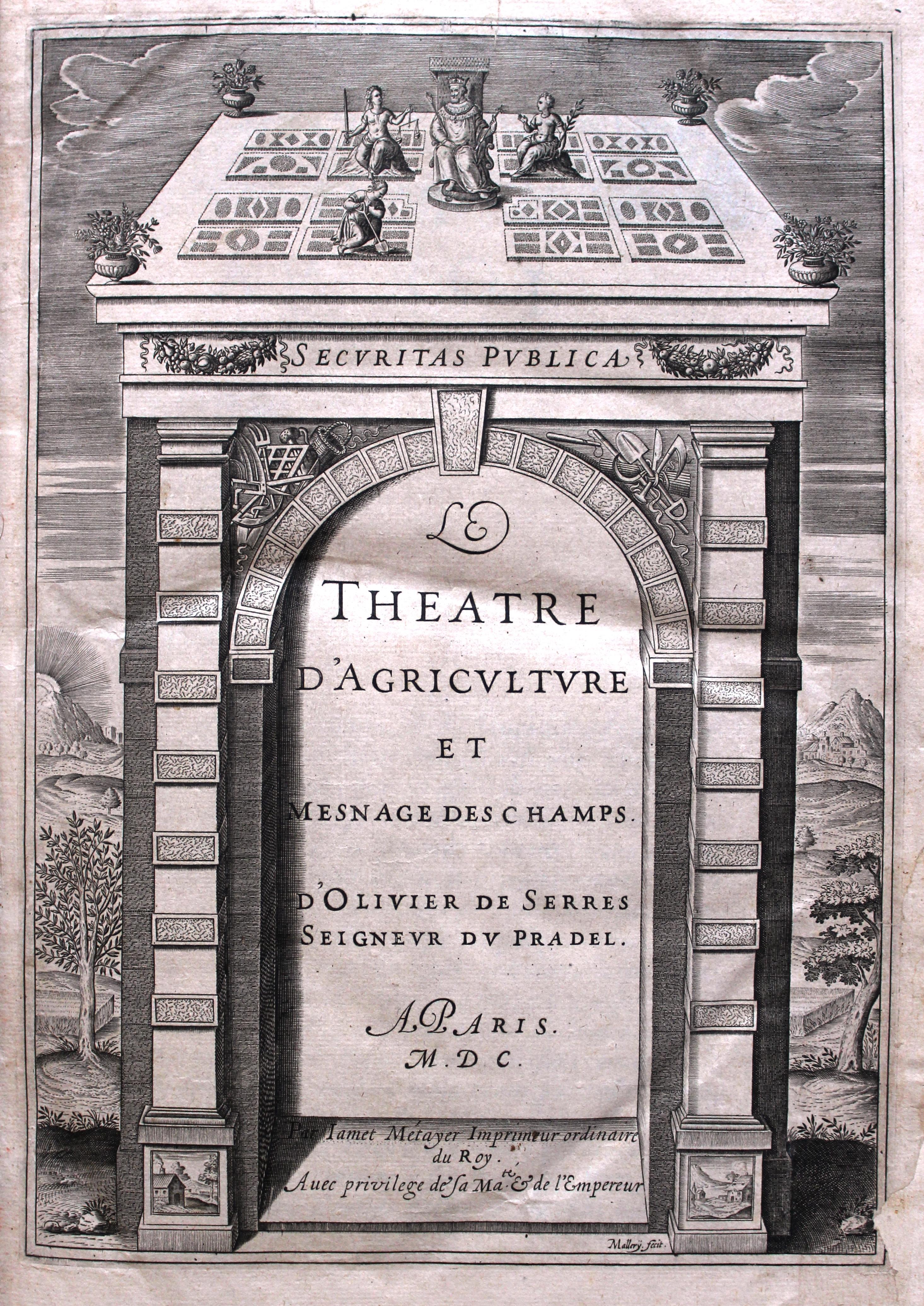 Frontispice de la 1ère édition du Théâtre 1600